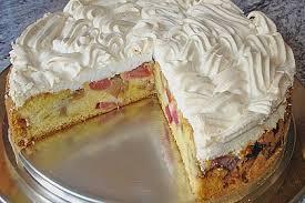 rhabarber baiser kuchen 1k rezepte