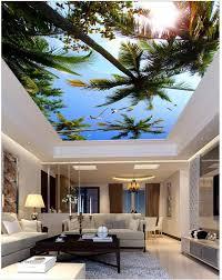 sonnenschein strand decke 3d zimmer tapete landschaft decken 3d wandbilder wallpaper für wohnzimmer