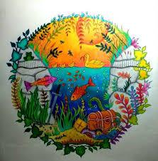 Aquarium Enchanted Forest Aquario Floresta Encantada Johanna Basford Adult ColoringColoring BooksDrawing