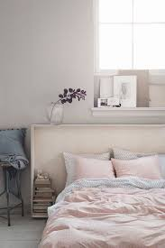 A Beautiful Pink And Grey Bedroom Via Hm