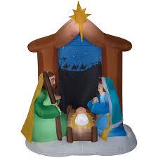 Holiday Living Airblown Nativity Scene At Lowescom