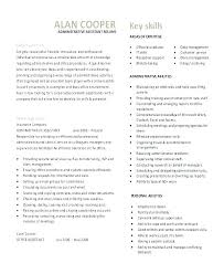 Resume Samples Canada Sample Template It Administrative Assistant Free