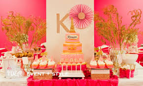 Pink And Gold Birthday Themes by Glitz And Glam