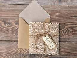 Fresh Rustic Wedding Invitations With Lace And Custom Listing Recycling Invitation Burlap