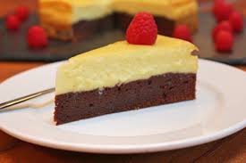brownie cheesecake bake with