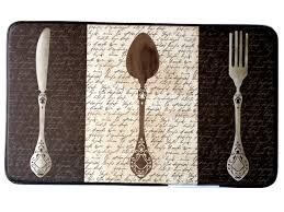 Fat French Chef Kitchen Curtains by Knife Fork Spoon Silverware Kitchen Comfort Mat 29 95 Fat Chefs