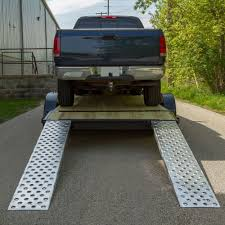 EZ Traction Aluminum Hook End Car Trailer Ramps - Hook End - 94