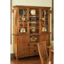 Image Is Loading Hutch And Buffet China Cabinet Cottage Oak Kitchen