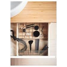 godmorgon box with compartments smoked 32x28x10 cm ikea