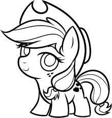 My Little Pony Coloring Pages Cute Baby Applejack Free Online