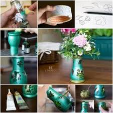 How To Make Beautiful Flower Vases With Baby Food Jars Step By DIY Tutorial Instructions