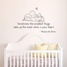 Winnie The Pooh Nursery Decor Ireland by V U0026c Designs Tm Winnie The Pooh Sometimes The Smallest Things