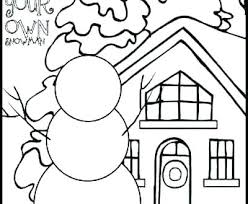 Preschool Winter Coloring Pages Es For Clothing Printable