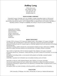 1 Surgery Scheduler Resume Templates Try Them Now