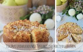 apfelmuskuchen mit marzipan und marzipan streuseln apple