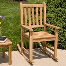 Joanne Teak Outdoor Rocking Chair Outdoor