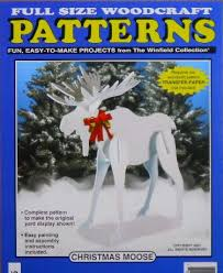 christmas moose wood craft pattern by docholidays on etsy 11 95