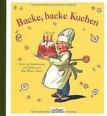 backe backe kuchen liebe alte kinderreime bilder v