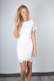 j o a white crochet dress foi clothing bridal shower dress