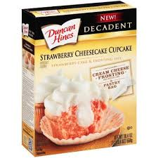 Decadent Strawberry Cheesecake Cupcake Mix
