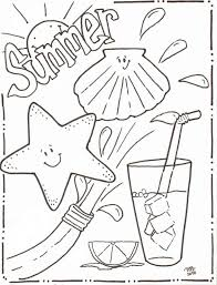 Summer Coloring Pages Free Summertime Sheets Michelle Kemper Brownlow Download
