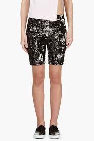 filles a papa black sequin bike shorts in black lyst