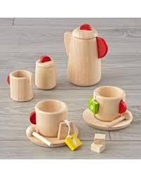 Deal Alert Plan Toys Wooden Tea Set Land Nod Play Kitchen