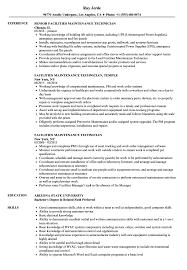 Download Facilities Maintenance Technician Resume Sample As Image File