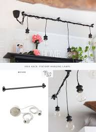 Try This Ikea Hack And Create A Unique Hanging Lights Chandelier Provate Anche Voi