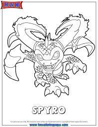 Skylanders Swap Force Magic Series3 Spyro Coloring Page
