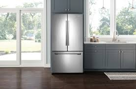 Samsung Refrigerator Leaking Water On Floor by Samsung 24 6 Cu Ft French Door Refrigerator With Thru The Door
