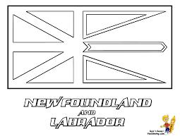 Newfoundland Labrador Flag At YesColoring