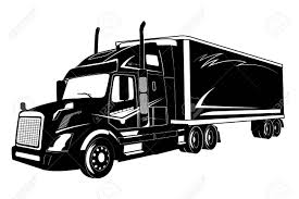 Icon Of Truck, Semi Truck, Vector Illustration Royalty Free Cliparts ...