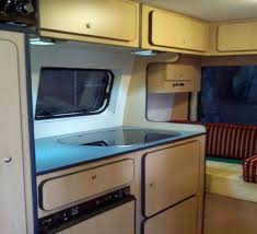 Ireland Kitchen Area Inside A Campervan Conversion By Ceide Conversions Donegal