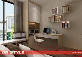 De Style Design Ideas For HDB Condo Study Bedroom 4