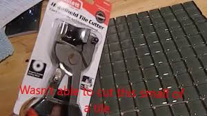 Wheeled Glass Tile Nippers by Goldblatt Tile Cutter Youtube