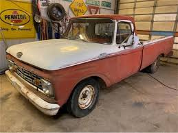 1964 Ford F100 For Sale | ClassicCars.com | CC-1176135 1964 Ford F100 Truck Classic For Sale Motor Company Timeline Fordcom Coe A Photo On Flickriver F250 84571 Mcg Antique F350 Dump Vintage Retro Badass Clear Title Ford Custom Cab Truck Two Tone 292 Y Block 3speed With Od 89980 81199 Hemmings News Pickup 64 F600 Grain As0551 Bigironcom Online Auctions 85 66 Econoline Pick Up Sale Trucks