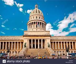 El Capitolio Havana Cuba Caribbean Architecture Historic Building Aerial View