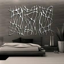 gestaltung schlafzimmer graue waende silberne dekoration