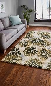teppich frankfield in cremefarben grün teppich grün