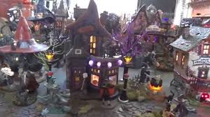 Dept 56 Halloween Village by Dept 56 And Lemax Spookytown Halloween Village Display 2015 Youtube