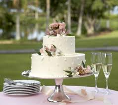 Outdoor Wedding Cake Ideas Photo