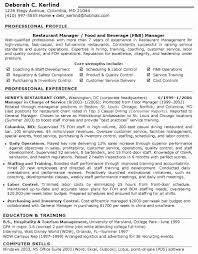Objective For Marketing Resume Luxury Restaurant Manager Sample