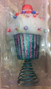 Candyland Inspired Cupcake Christmas Tree Topper