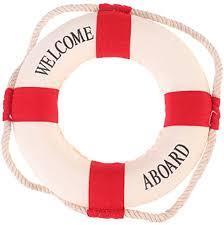amosfun maritime deko rettungsring aus schaum willkommen schild mediterraner stil dekoration nautische geschenke für wohnzimmer wanddeko badezimmer