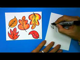 ArtSmart Scarecrow How to Draw Fall Leaves