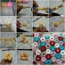 How To Knit Pretty Flowers Step By DIY Tutorial Instructions Thumb