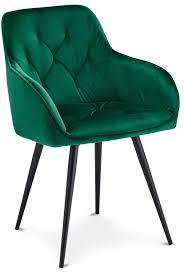ibbe design 2er set grün esszimmerstühle lounge chesterfield samt stoff polsterstuhl mit armlehnen lene schwarz metallgestell 57x63x88 cm