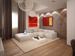 living modern apartment lounge wall accent lighting white fur also