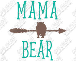Mama Bear Arrow Custom DIY Iron On Vinyl Womens Shirt Decal Cutting File In SVG